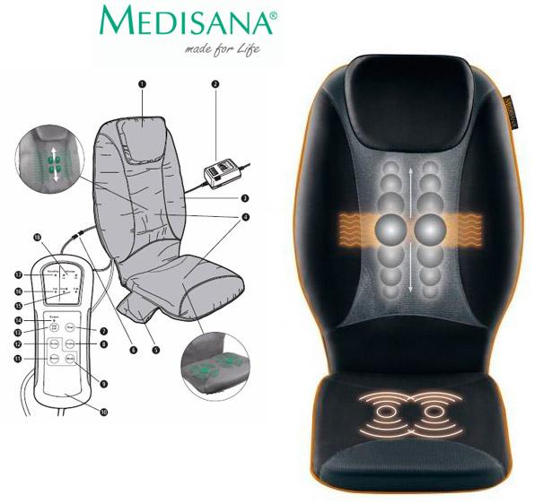 medisana rbm shiatsu massage sitzauflage w rme hd wirbel. Black Bedroom Furniture Sets. Home Design Ideas